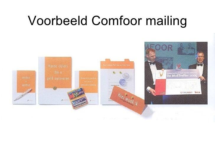 Voorbeeld Comfoor mailing