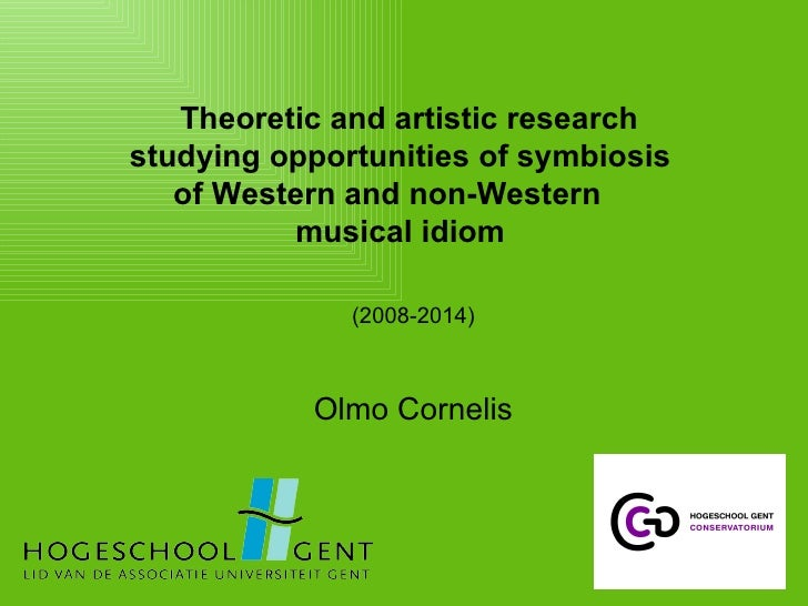 Theoretic and artistic research  studying opportunities of symbiosis  of Western and non-Western  musical idiom  (2008-201...