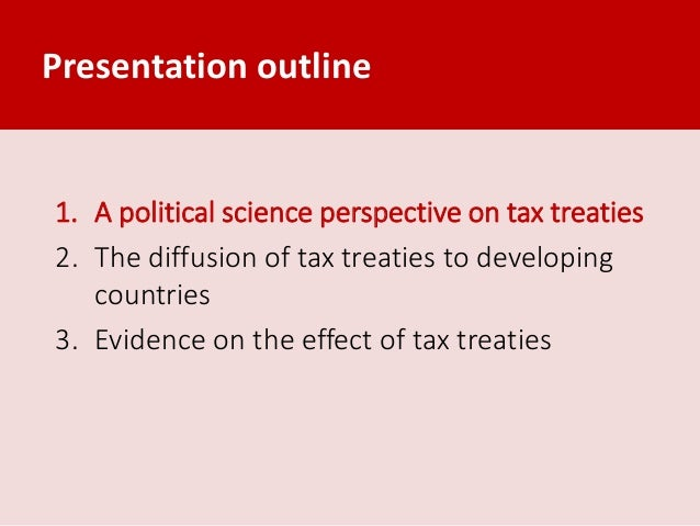 Trends in the conclusion of tax treaties by developing countries Slide 2