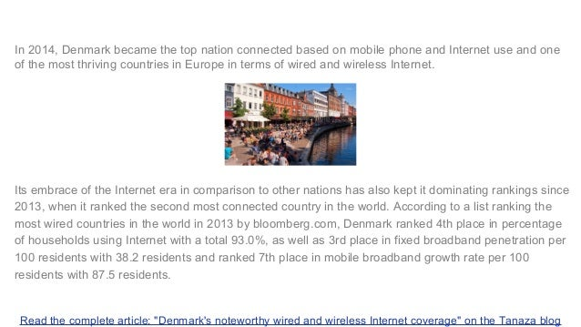 Tanaza Blog - Wired and wireless Internet in Denmark - Guest Wi-Fi access in Denmark Slide 2