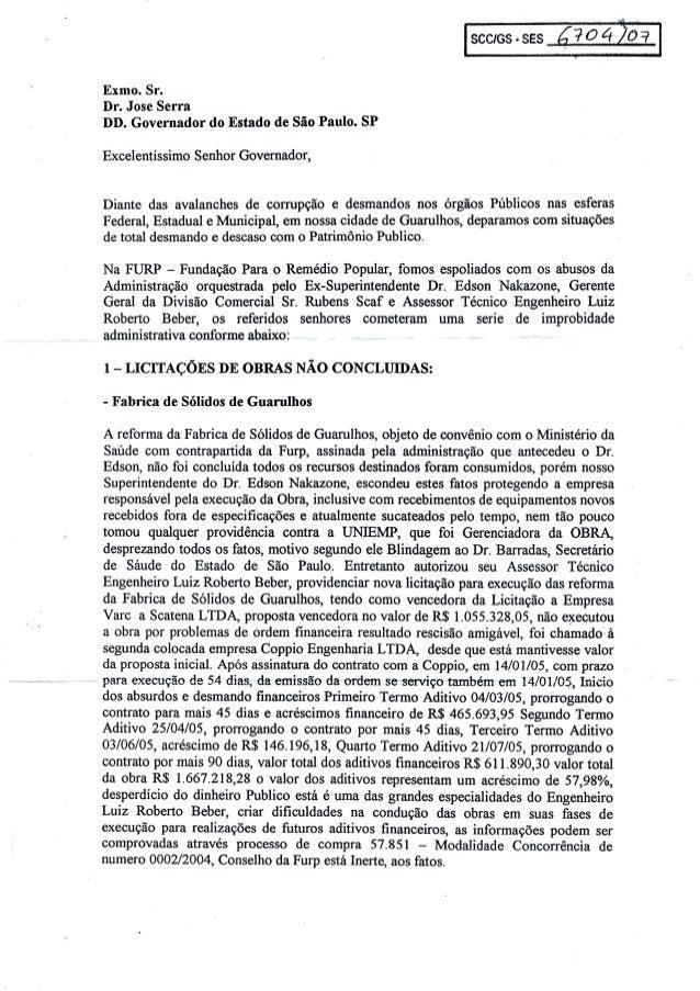 Denúncia feita em 2007