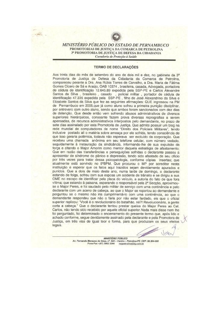 Denúncias ao MPPE Drº Adriano Camargo e Drª Ana Rúbia