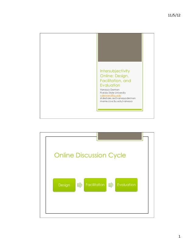 11/5/12                    Intersubjectivity                   Online: Design,                   Facilitation, and      ...