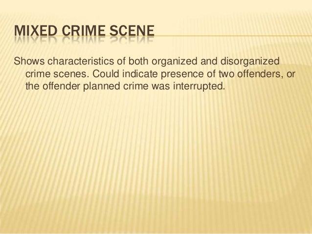 Attributes of organized crime