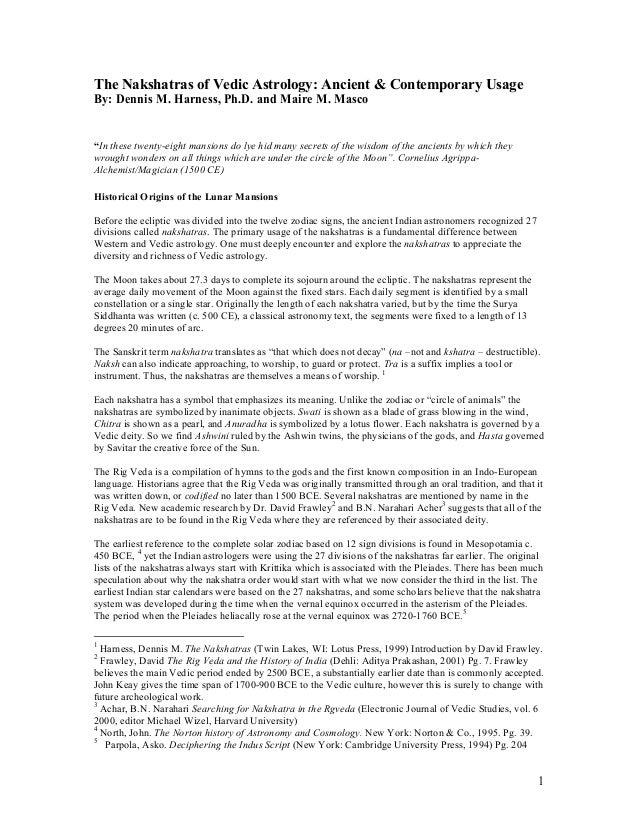 Dennis article for website nakshatras drafttwo