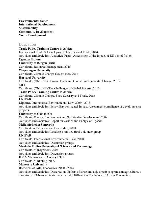 cover letter international organization