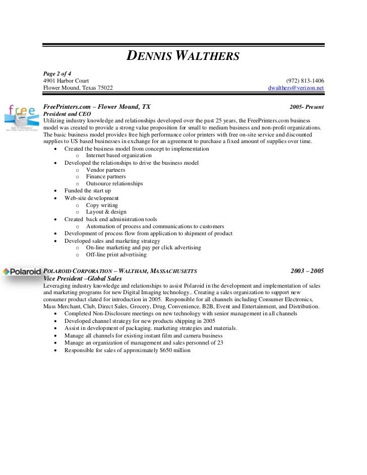 SlideShare  Vp Of Sales Resume
