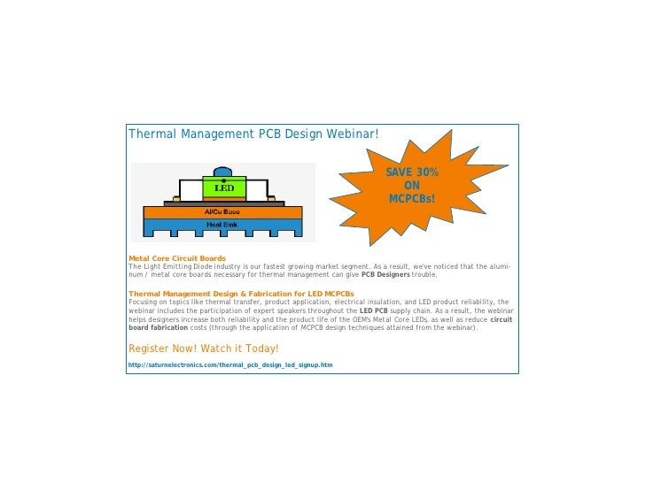 Thermal Management PCB Design Webinar!                                                                                 SAV...