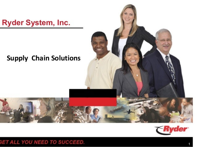 Ryder System, Inc. Supply Chain Solutions                          1