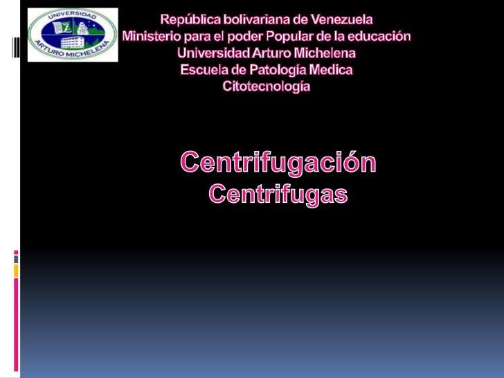 República bolivariana de VenezuelaMinisterio para el poder Popular de la educaciónUniversidad Arturo MichelenaEscuela de P...