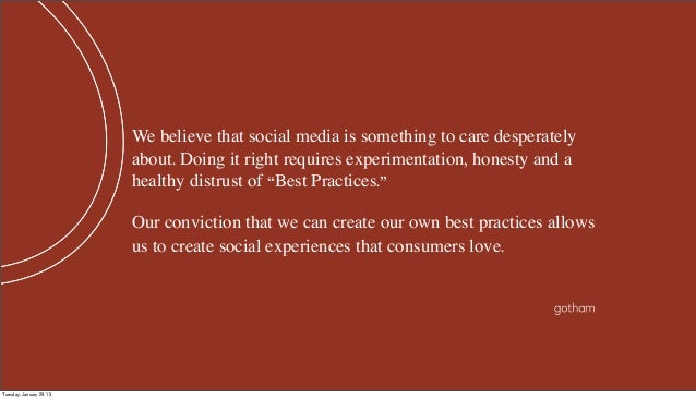 We believe that social media is something to care desperately                          about. Doing it right requires expe...