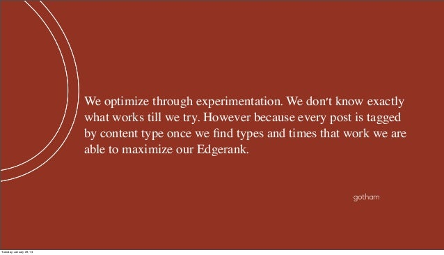 We optimize through experimentation. We dont know exactly                          what works till we try. However because...
