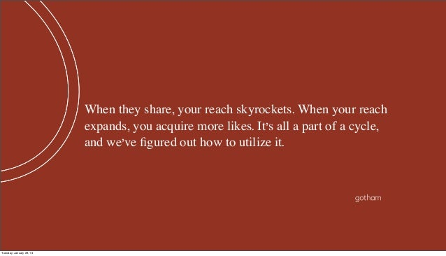 When they share, your reach skyrockets. When your reach                          expands, you acquire more likes. It's all...