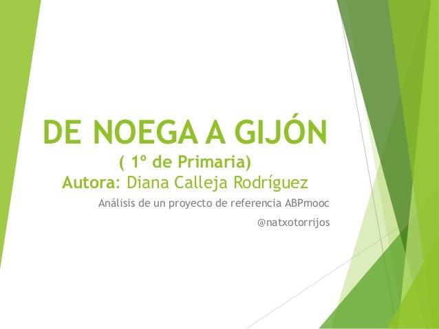 DE NOEGA A GIJÓN ( 1º de Primaria) Autora: Diana Calleja Rodríguez Análisis de un proyecto de referencia ABPmooc @natxotor...