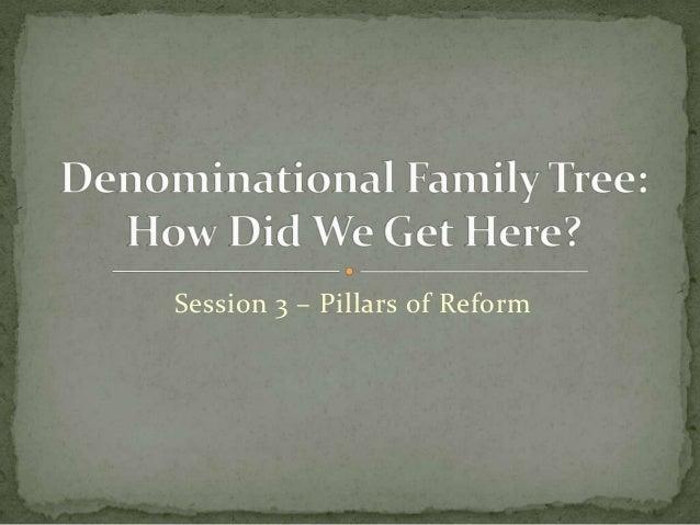 Session 3 – Pillars of Reform