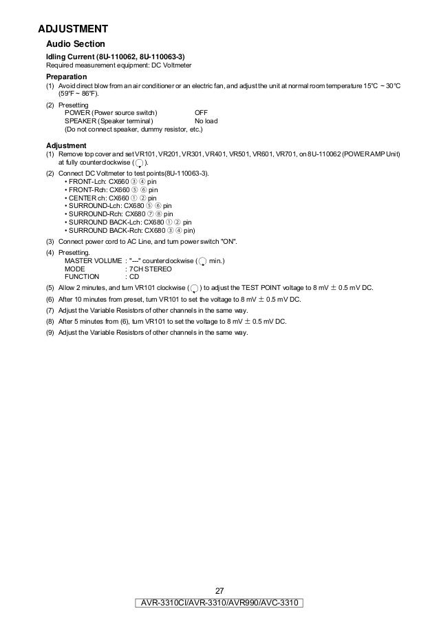 Denon Avr 3312 Service Manual