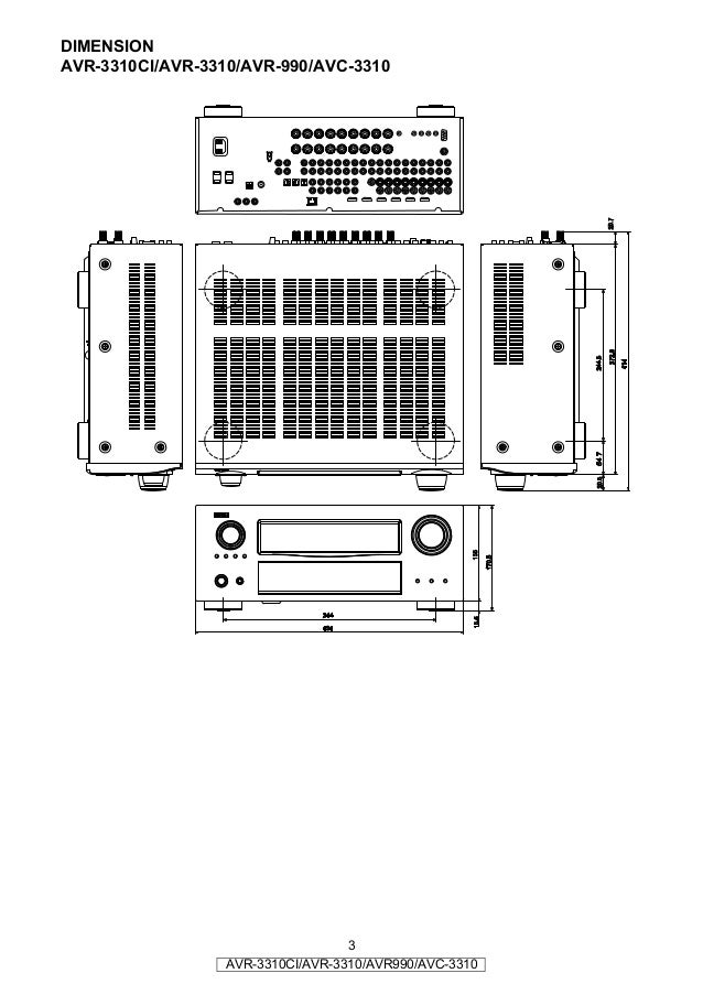 Denon AVR 3310 service manual