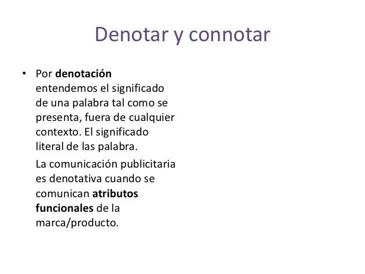 Denotacion Y Connotacion Publicitaria