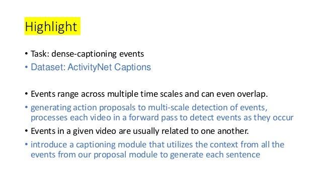 Dense-captioning events in videos Slide 3