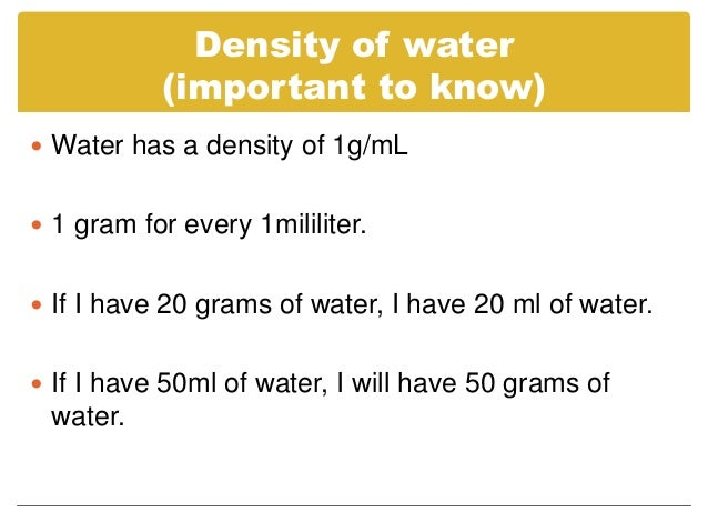 Density!!!!!!