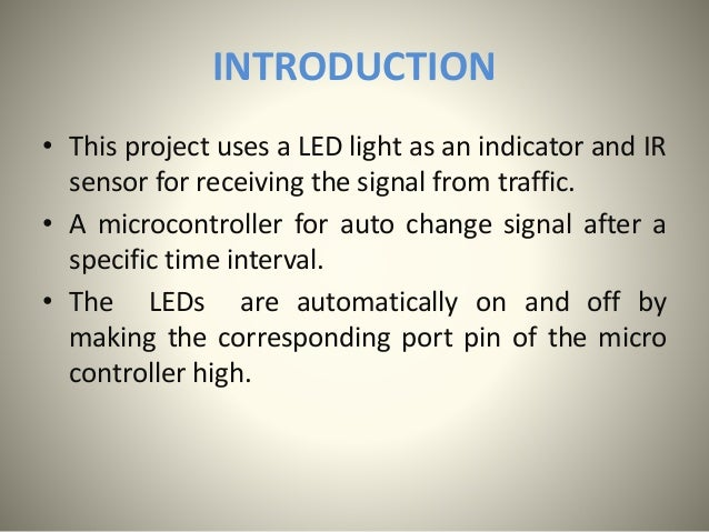 traffic light project microcontroller This instructable is derived from: arduino-traffic-light-simulatori have used the drawing from this instructable, to create a separate traffic light i made the.