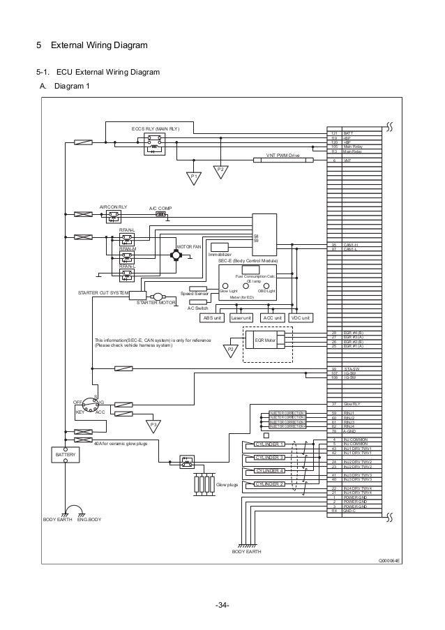 denso common rail system for nissan rh slideshare net Bosch Oxygen Sensor Wiring Diagram denso ecu circuit diagram