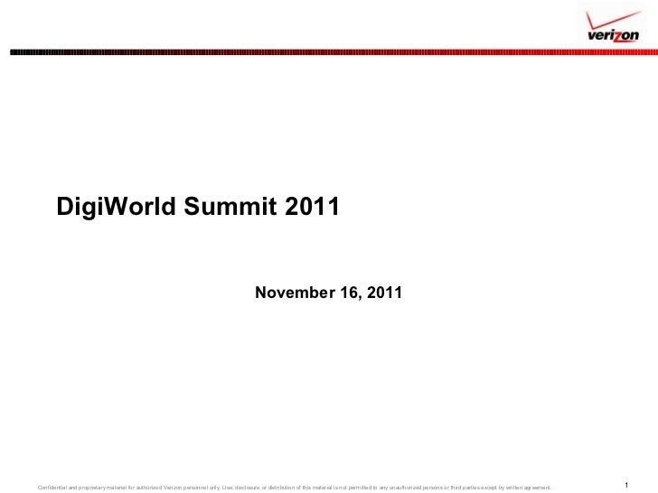 DigiWorld Summit 2011 November 16, 2011