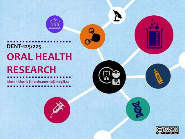 DENT-125/225  ORAL HEALTH  RESEARCH  Martin Morris | martin.morris@mcgill.ca