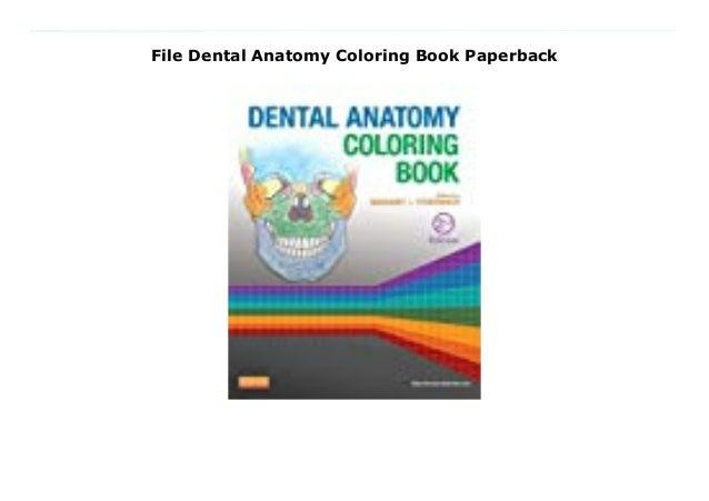 - File Dental Anatomy Coloring Book Paperback