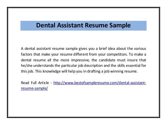 Dental Assistant ...