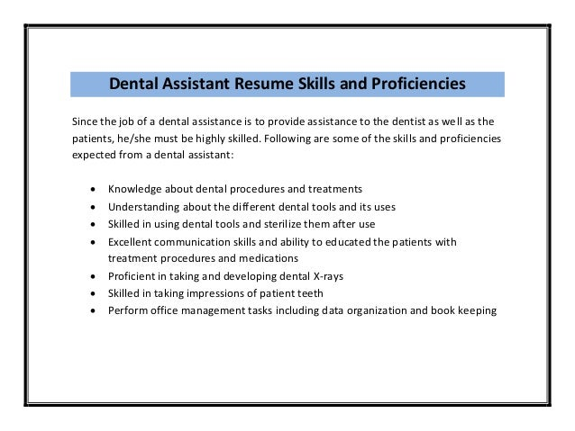 what is a dental assistant job description khafre. sample dental ...