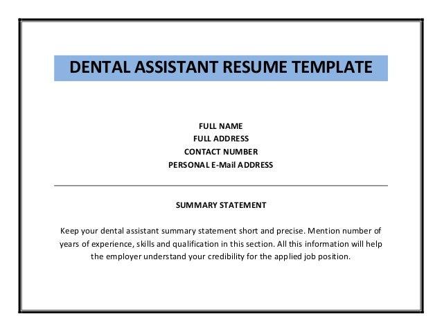 dental assistant resumes skills resume samples for dental assistant