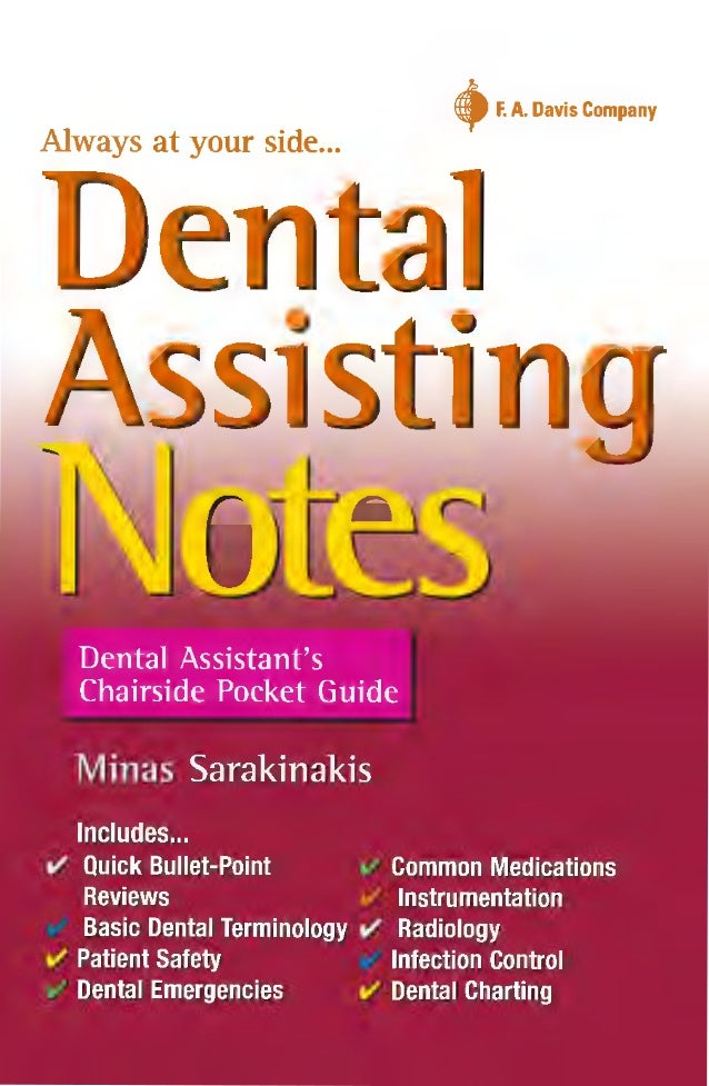 dental assisting notes dental assistant s chairside pocket guide 1 rh slideshare net dental diagrams dental diagram of teeth numbers