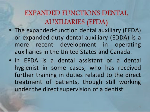 dental assistant duties and responsibilities