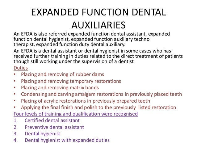 fissure sealent 19 4 dental hygienist with expanded duties - Dentist Duties And Responsibilities