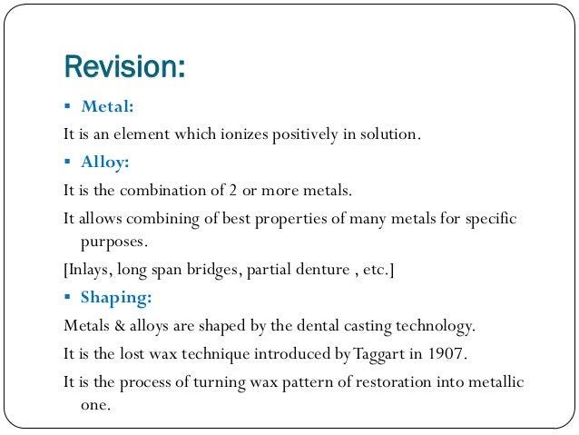 Dental casting alloys Slide 3