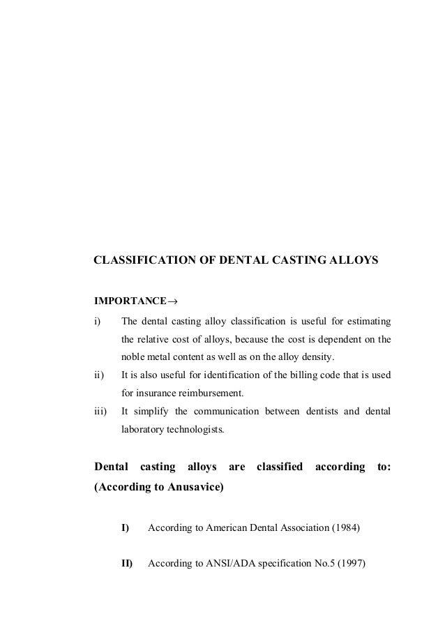 Dental casting alloys