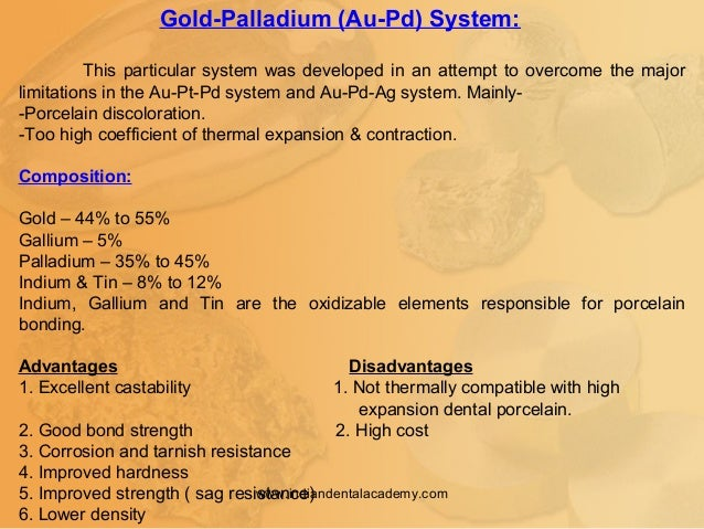 Gold-Palladium (Au-Pd) System: This particular system was developed in an attempt to overcome the major limitations in the...