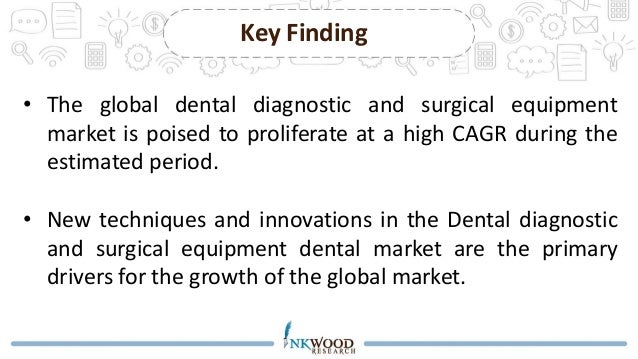 dental diagnostic surgical equipment market The market for dental diagnostic and surgical equipments can be segmented on the basis of various types of devices namely dental systems and equipment, dental lasers and dental radiology equipments.