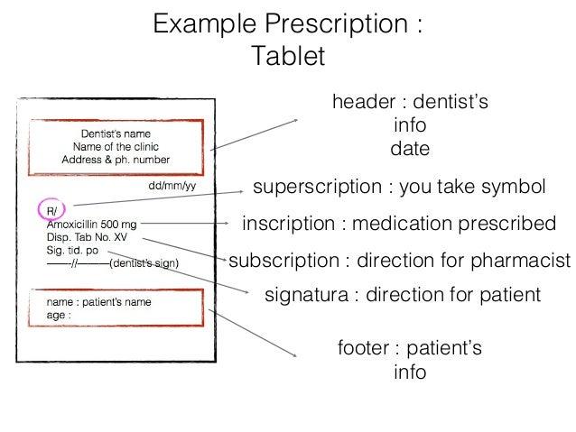 perscription pad