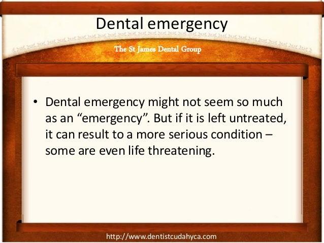 """http://www.dentistcudahyca.com Dental emergency • Dental emergency might not seem so much as an """"emergency"""". But if it is ..."""