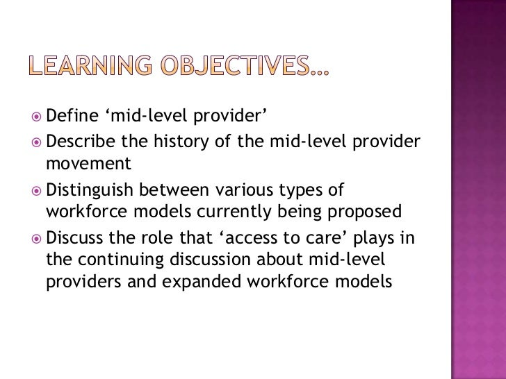 Advanced Practitioners Are Not Mid-Level Providers