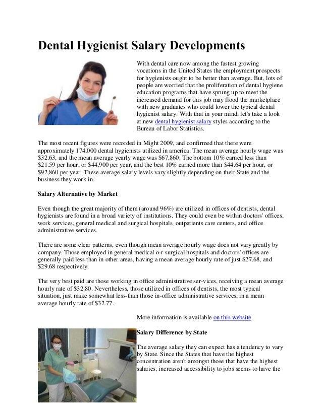 Dental hygienist salary developments