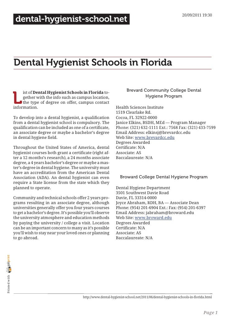 20/09/2011 19:30                 dental-hygienist-school.net                Dental Hygienist Schools in Florida           ...