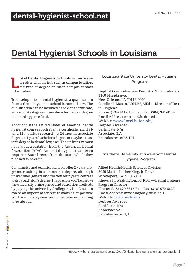 20/09/2011 19:33                 dental-hygienist-school.net                Dental Hygienist Schools in Louisiana         ...