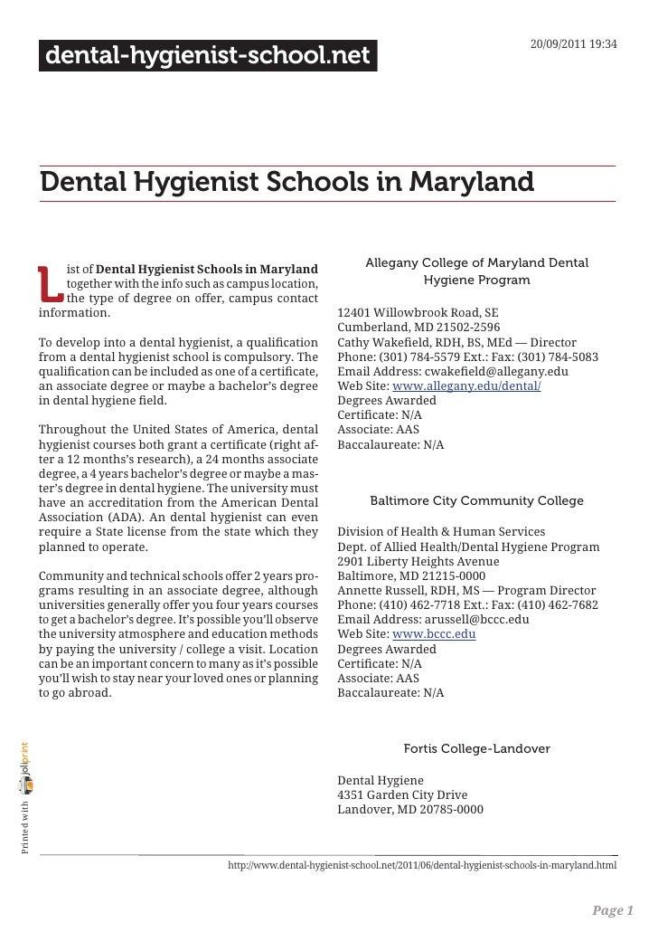 20/09/2011 19:34                 dental-hygienist-school.net                Dental Hygienist Schools in Maryland          ...