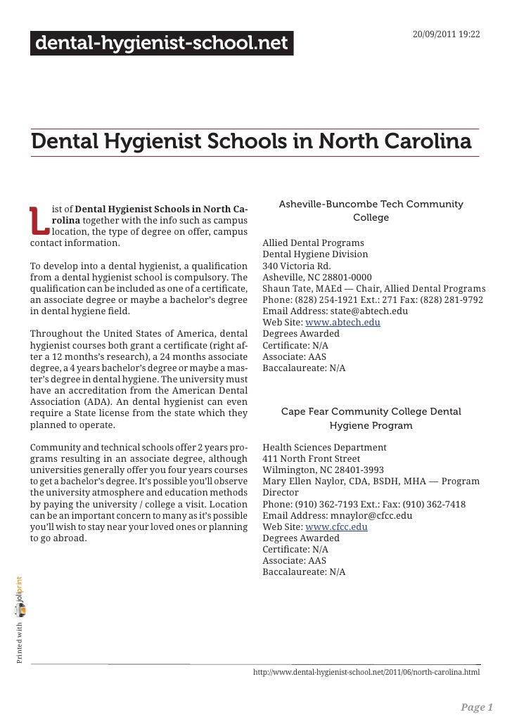 20/09/2011 19:22                 dental-hygienist-school.net                Dental Hygienist Schools in North Carolina    ...
