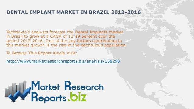 DENTAL IMPLANT MARKET IN BRAZIL 2012-2016TechNavios analysts forecast the Dental Implants marketin Brazil to grow at a CAG...