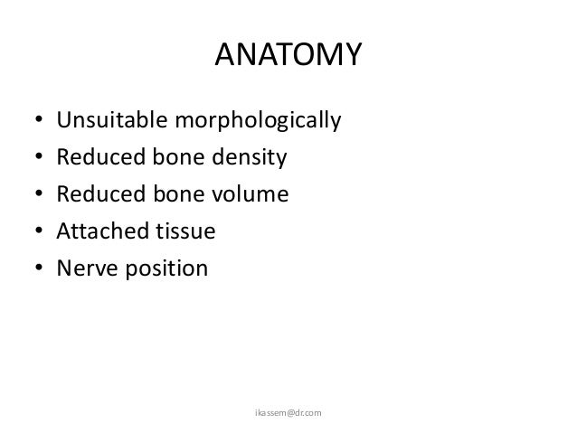 COMPLICATIONSPeroperative  – Failure to obtain anaesthesia  – Haemorrhage  – Stuck implant  – Loose implant  – Lost implan...