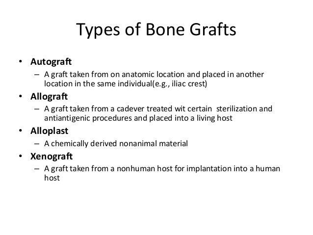 Cortical Bone Grafts• Less biologically active than cancellous bone   – Less porous, less surface area, less cellular matr...